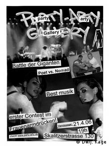 Party Arty Gallery poster from 2006, Copyright: Jan Kage