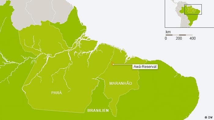 Karte Awá-Reservat Maranhão Brasilien (Grafik: DW)