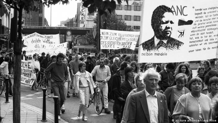 A German demonstration against apartheid