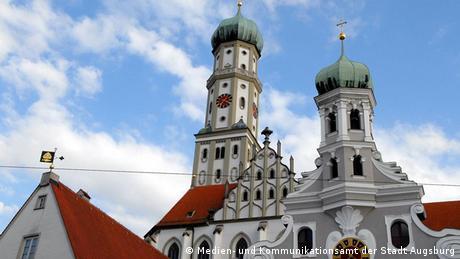 Augsburg Stadtansichten Basilika St. Ulrich und Afra