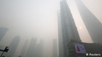 China Smog in Shanghai Dezember 2013