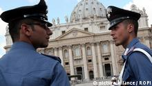 Italy, Rome - September 21, 2010 Ettore Gotti Tedeschi, director of the Vatican bank, IOR under investigation for suspected money-laundering. Italian Carabinieri (Italy state police) at St. Peters square. Archive file. e