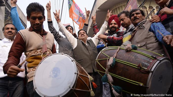 BJP supporters celebrate (AFP/Getty Images)