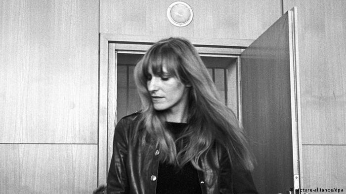 Gudrun Ensslin Frankfurter Kaufhausbrandstifter-Prozess am 31.10.1968
