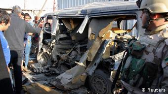 Damage from a bomb attack in Iraq Photo: REUTERS/Wissm al-Okili