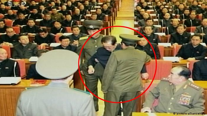 Jang Song Thaek under arrest in Pyongyang (picture-alliance/dpa)