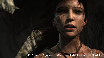 Scene from Tomb Raider game