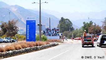 Entrance of El Soldado Mine in Chile