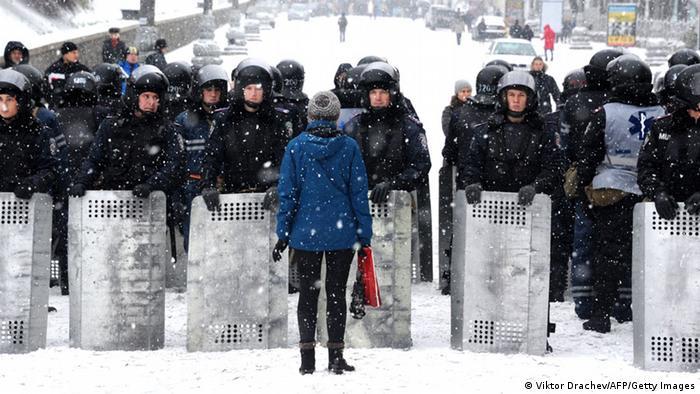 Правоохоронці за день до штурму Майдану 11 грудня 2013 року