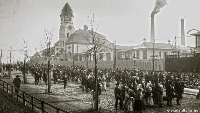 Bildergeschichten Auswanderhalle Hamburg 1909 Deutschland