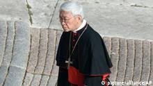 Cardinal Joseph Zen Ze-kiun arrives to attend Pope Benedict XVI's last general audience in St. Peter's Square at the Vatican, Wednesday, Feb. 27, 2013. Benedict XVI is preparing for his final general audience, the weekly appointment he kept with the faithful and tourists to teach them about the Catholic faith. (AP Photo/Luca Bruno)