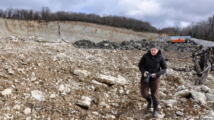 Environmental activist Olga noskowetz (DW/M. Bushuev)