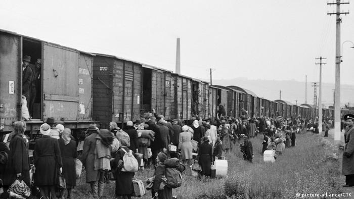 Nachkriegszeit - Vertreibung der Deutschen aus Tschechien