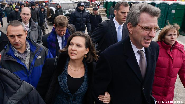 Victoria Nuland in Kiew (Foto: picture-alliance/dpa)