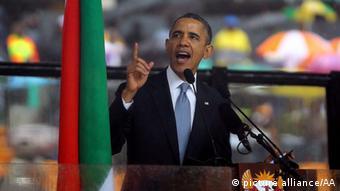 Obama Mandela Trauerfeier