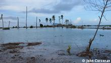 Tides cover the land in Kiribati