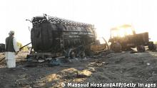 Von Bundeswehr bombardierter Tanklastzug in Kundus, Afghanistan