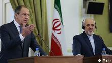 Lawrow Sarif Pressekonferenz in Teheran