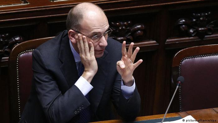 Italien Enrico Letta Misstrauensvotum