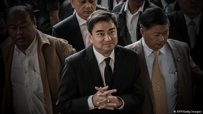 Democrat leader and former prime minister Abhisit Vejjajiva. Photo: AFP