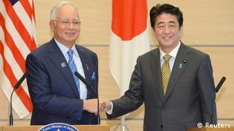 Shinzo Abe Japan Premierminister Najib Razak Malaysia