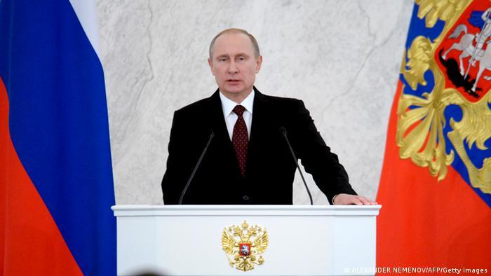 Vladimir Putin addresse the nation