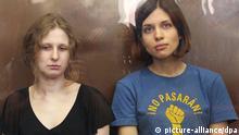 Nadeschda Tolokonnikowa und Maria Aljochina Punkband Pussy Riot Russland Gericht