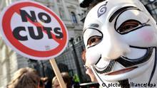 Bildergalerie Top Themen EU 2014 Proteste finanzielle Beschneidung Sparen Sparpolitik