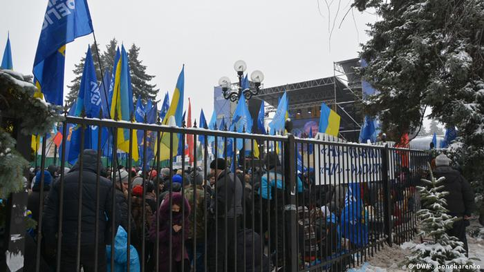 demonstrators in Ukraine
