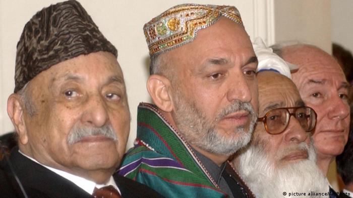 Afghanistan Präsident Hamid Karsai Amtseinführung 2004
