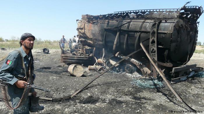Tanklaster Bombardement in Kunduz