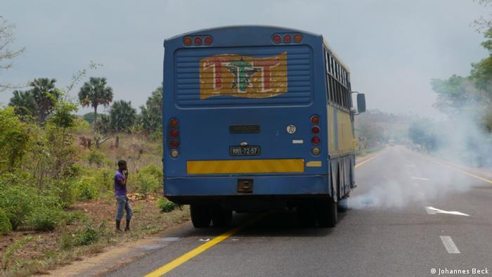 Überlandbus in Mosambik