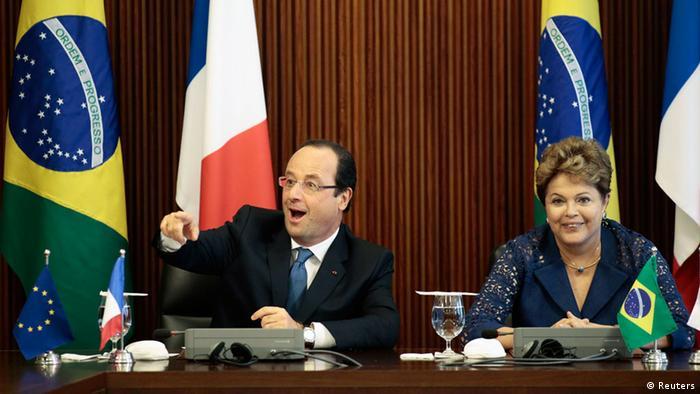 Dilma agradece a Hollande por apoiar iniciativa contra espionagem