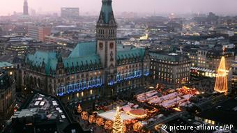 Предрождественский базар в Гамбурге