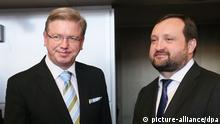 Kommissar für EU-Erweiterung Stefan Fule und ukrainischer stellvertretener Premierminister Serhij Arbusow