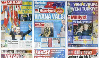 Türkei Beitrittsverhandlungen Reaktionen Zeitungen