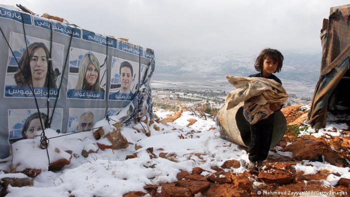 دهها هزار آوارهی سوری در سرمای شدید رنج میبرند