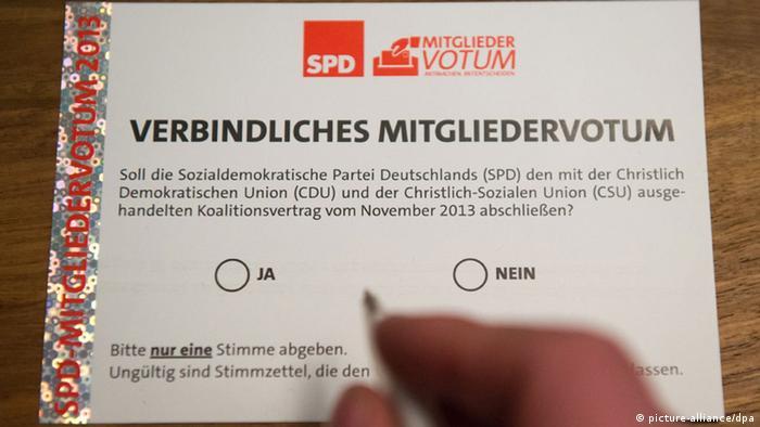 SPD Mitgliederentscheid Votum
