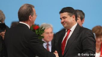 Franz Müntefering and Sigmar Gabriel