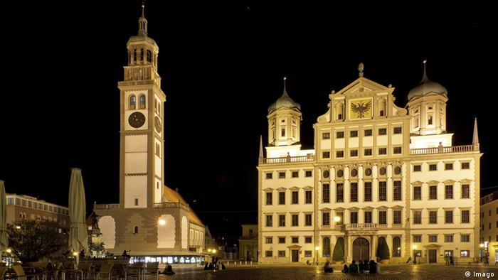 Ратуша в историческом центре Аусбурга