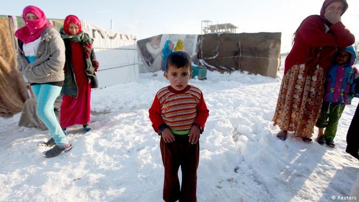 Syrische Flüchtlinge im Libanon (Foto: reuters)