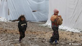 Syrian children in a Lebanese camp