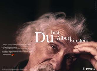 Parte da campanha 'Você é a Alemanha' com Einstein: tentativa de despertar a identidade do povo alemão