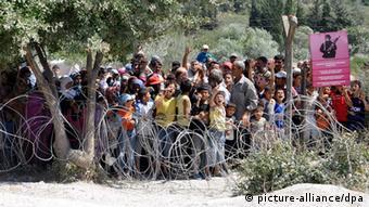 آوارگان سوری در مرز ترکیه