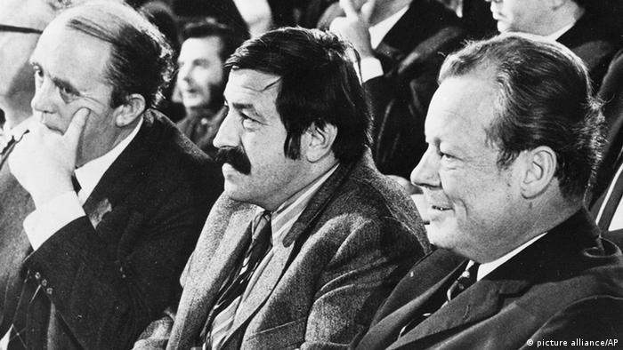 Heinrich Böll, writer Günter Grass and Chancellor Willy Brandt, 1970