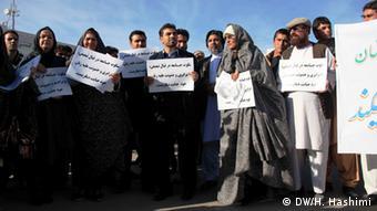 Afghanistan: Protest gegen Gewalt an Frauen (Foto: DW)