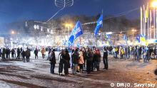 Demonstration Anhänger von dem ukrainischen Präsidenten Janukowitsch