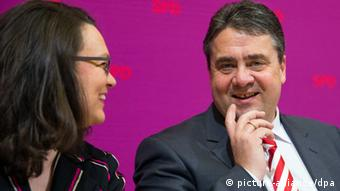 Sigmar Gabriel and Andrea Nahles