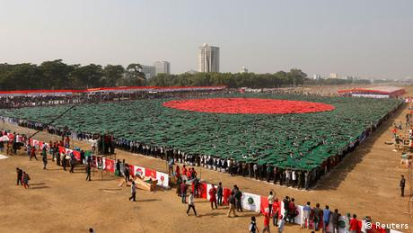 Bangladesch Nationalflagge Aktion