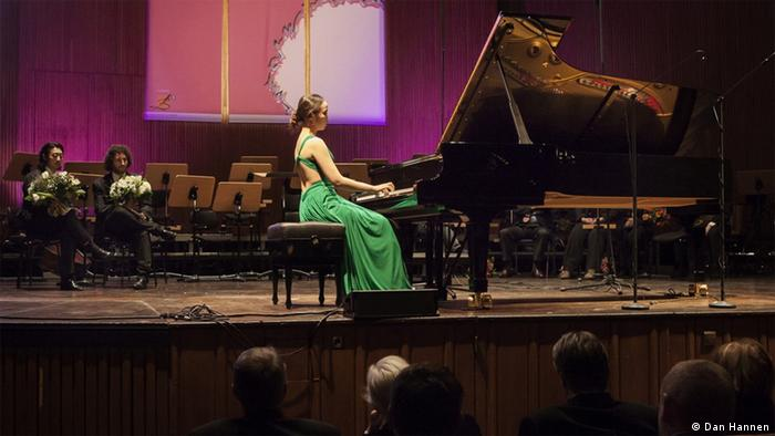Soo-Jung Ann, the most recent winner, at the finale of the Telekom Beethoven Competition in 2013, Copyright: Dan Hannen